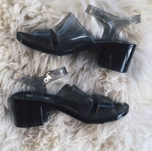 American Apparel Clear Jelly Sandals